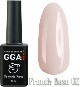 Каучукова база GGA Professional French Base 02 Рожевий кристал 15 мл (1213077618293)