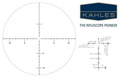 Приціл оптичний KAHLES K 1050 10-50x56 MOAK