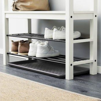 Килимок для взуття IKEA (ІКЕА) BAGGMUCK 71х35 см Сірий 603.297.11
