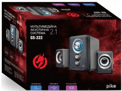 Акустична система Piko 2.1 GS-222 3.5 мм з живленням від USB порту чорні (1283126489471)