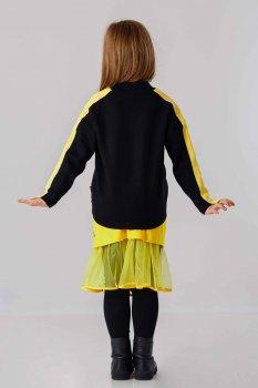 Джемпер із жовтими смугами на рукавах JO JO чорний (19313108)