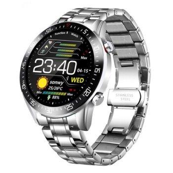 Смарт-годинник Smart Terminator PRO Silver з пульсометром і крокоміром + вимірювання рівня кисню і анти-втрата