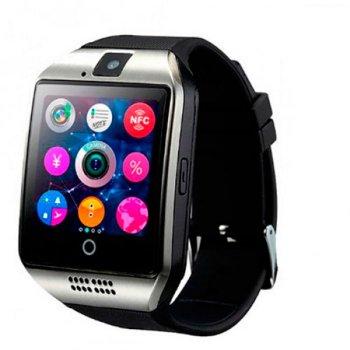 Смарт-годинник UWatch Smart Q18 NFC Black з камерою + Bluetooth 3.0 / трекінг сну / крокомір / підтримка sim-карти і карти пам'яті до 32 Гб