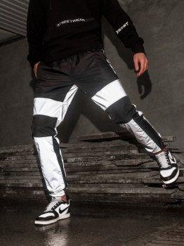 Спортивные штаны карго BEZET Black/Reflective' 21 1412 Черные