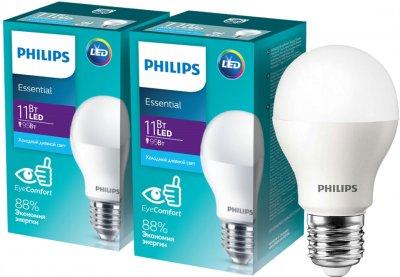 Светодиодная лампа Philips ESS LED Bulb 11W E27 6500K 2 шт (929002299887F)