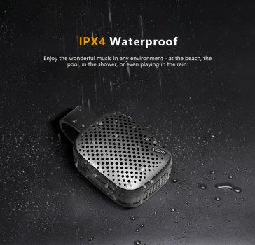 Колонка с встроенным микрофоном DOSS WB10 Mini black 5 Вт IPX4 Bluetooth 4.0