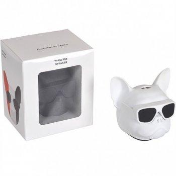 Портативна Колонка Голова собаки 597-5 (Білий)