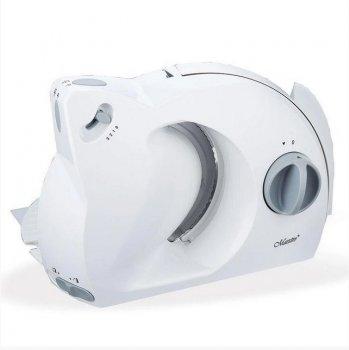 Слайсер (ломтерезка) потужність: 220-240В~, 50Гц, 150 Вт Maestro MR-590 сучасний, ергономічний дизайн, лоток приймач, 3 швидкісних режиму, ніж з нержавіючої сталі, з блокування від увімкнення дітьми