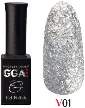 Гель-лак GGA Professional колекція Vegas 01 Циркон 10 мл (1213077618415)