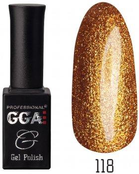 Гель-лак GGA Professional № 118 Золотий Шимер 10 мл (1213077616909)