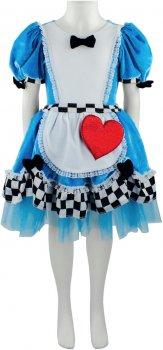 Платье Seta Decor Алиса 19-1050 116-128 см Голубое с белым (2000048675015)