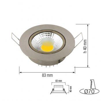 Світлодіодний світильник Horoz Electric LILYA-3 3W 4200К бел