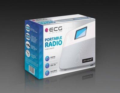 Радіо-годинник ECG R-300-U-White