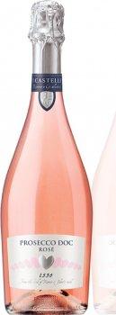 Вино ігристе I Castelli Prosecco DOCspumante Rose рожеве брют 0.75 л 11% (8008900002096)