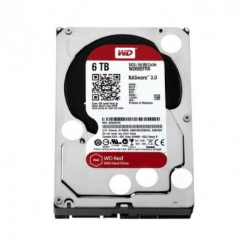 HDD SATA 6.0 TB WD Red 5400rpm 64MB (WD60EFRX)