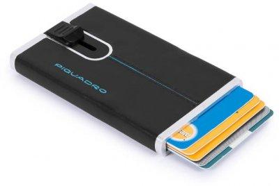 BL SQUARE/Black Кредитница с выдвижным механизмом с RFID защитой (6,2x10,5x1,2) Piquadro PP4825B2R_N