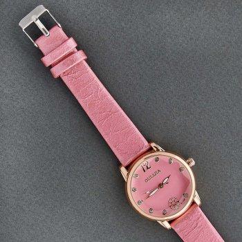 Классические Женские Часы Qulijia OL2-05 c Розовым ремешком