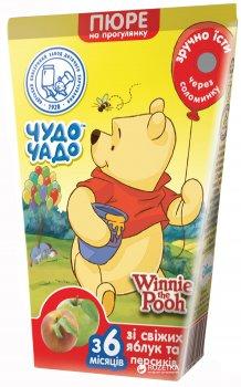 Упаковка пюре Чудо-Чадо Яблуко-персик з 6 місяців 130 г x 22 шт. (4820003680414)