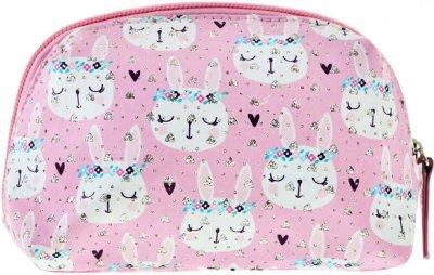 Косметичка Yes Weekend Rabbits 1 отделение Белая с розовым (532655)