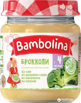 Упаковка пюре Bambolina Броколі 100 г х 12 шт. (4813163002011)