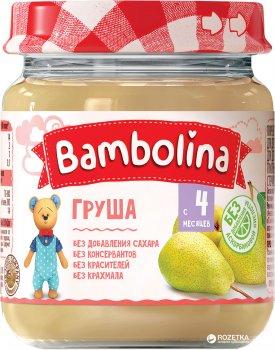 Упаковка пюре Bambolina Груша 100 г х 12 шт. (4813163001892)