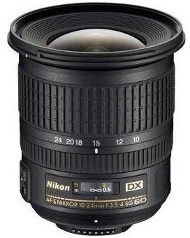 Об'єктив Nikon 10-24mm f/3.5-4.5 G Ed AF-S Dx Nikkor 460 г 87