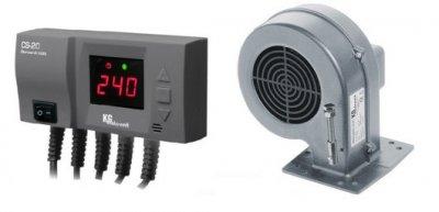 Комплект автоматики KG Elektronik CS-20 и вентилятор DP-02