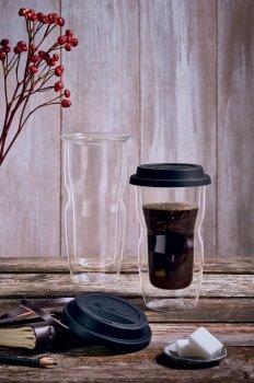 Чашка Luigi Bormioli Thermic Glass Coffee To Go с крышкой 460 мл (12836/01)