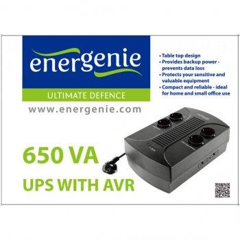 Пристрій безперебійного живлення EnerGenie EG-UPS-001 650VA, (EG-UPS-001)