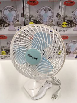 Вентилятор 2в1 з прищіпкою і підставкою портативний WIMPEX WX-605
