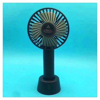Вентилятор USB ручний акумуляторний з підставкою міні-вентилятор портативний Portable Fan S02 Black