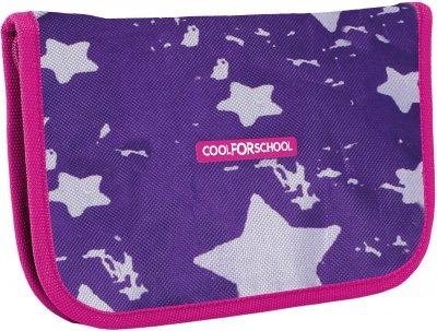 Пенал Сool For School Starry Violet 1 отделение 1 отворот Фиолетовый (CF86605)