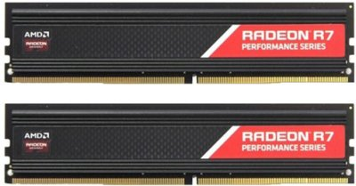 Оперативная память AMD DDR4-2400 16384MB PC4-19200 (Kit of 2x8192) R7 Performance Series (R7S416G2400U2K)