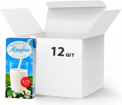 Упаковка молока ультрапастеризованного Нiжинське 3.2% 1027 г х 12 шт (4820111645718)