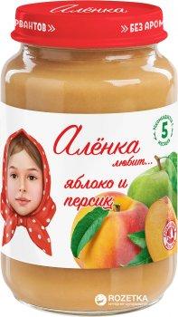 Упаковка пюре Аленка Любит Яблуко-персик 170 г х 6 шт. (4813163002455)