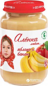 Упаковка пюре Аленка Любит Яблуко-банан 170 г х 6 шт. (4813163002424)