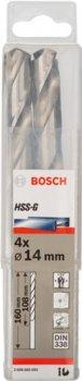 Набір свердел Bosch HSS-G 14 мм 4 шт. (2608585593)