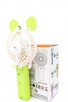 Ручний міні вентилятор на акумуляторі Qfan зелений