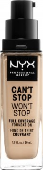 Жидкая тональная основа NYX Professional Makeup Can`t Stop Won`t Stop 24-Hour Foundation 6.5 Soft Nude 30 мл (800897157227)