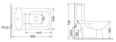 Унітаз-компакт DEVIT Comfort зі сидінням Soft Close дюропласт 3110123