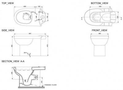 Унітаз-компакт DEVIT Smart з бачком і сидінням Soft Close дюропласт 3010146