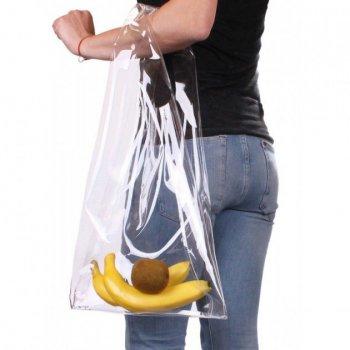 Прозрачная сумка-тоут POOLPARTY plastic-tote