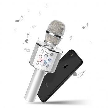 Безпровідний мікрофон караоке Hoco BK3 Silver