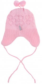 Демисезонная шапка с завязками Lenne Balin 19370/176 44 см Розовая (4741578361556)