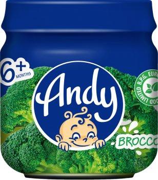 Упаковка дитячого пюре Andy Броколі 80 г х 12 шт. (4813163003476)