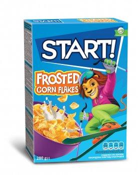 Упаковка кукурузных хлопьев Start глазированные 280 г х 12 шт (4820008124937)