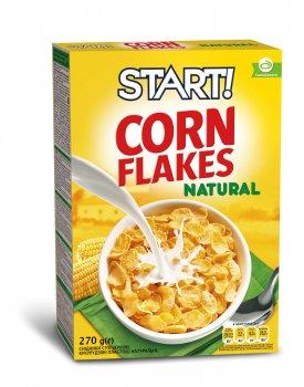 Упаковка кукурузных хлопьев Start натуральные 270 г х 12 шт (4820008125057)