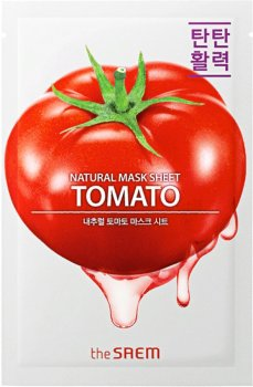 Тканевая маска с экстрактом томата The Saem Natural Tomato Mask Sheet 21 мл (8806164160442)