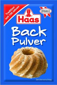 Упаковка порошка для выпечки Haas 16 г х 24 шт (4003754065130)