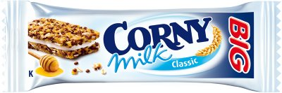 Упаковка злаковых батончиков Corny Big с молочно-кремовой начинкой 50 г х 5 шт (4011800571214)